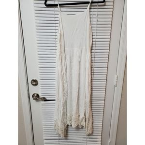 Free People White Midi Slip Dress